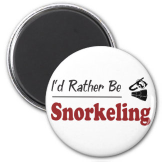 Rather Be Snorkeling 2 Inch Round Magnet