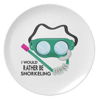 Rather Be Snorkeling Dinner Plates