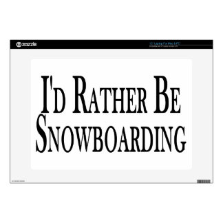 Rather Be Snowboarding Decals For Laptops