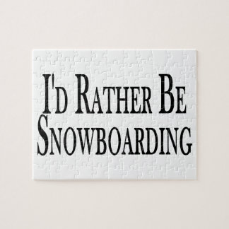Rather Be Snowboarding Jigsaw Puzzle