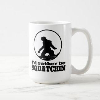 Rather Be Squatchin Classic White Coffee Mug