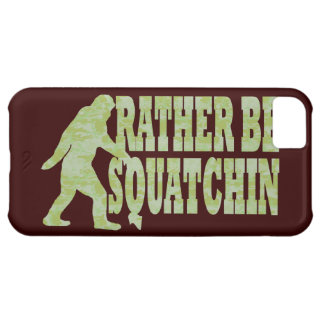 Rather be squatchin on green camouflage case for iPhone 5C