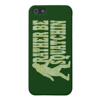 Rather be squatchin on green camouflage case for iPhone SE/5/5s