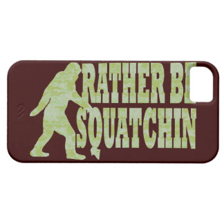 Rather be squatchin on green camouflage iPhone SE/5/5s case