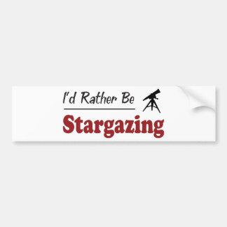 Rather Be Stargazing Bumper Sticker