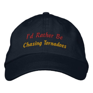 Rather Be Storm Chasing Storm Chaser Storm Spotter Embroidered Baseball Caps