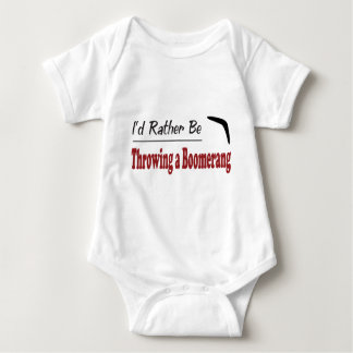Rather Be Throwing a Boomerang Baby Bodysuit