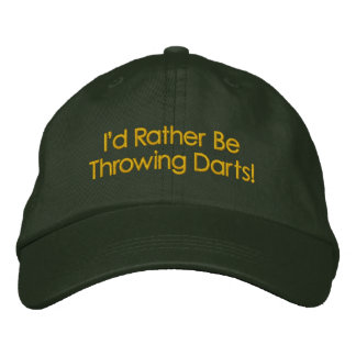 Rather be Throwing DARTS CAP Embroidered Hats