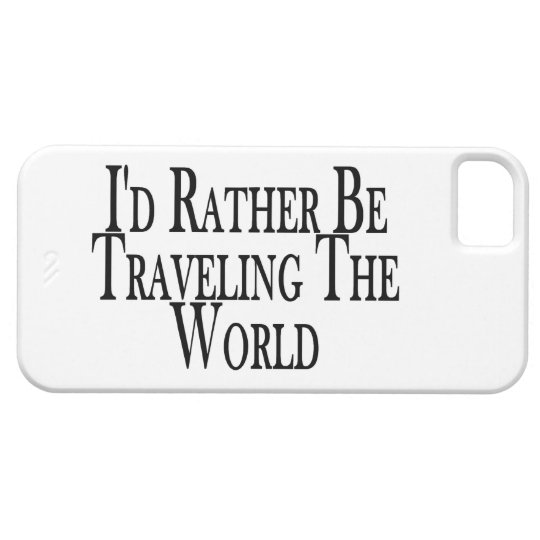 Rather Be Traveling The World iPhone SE/5/5s Case