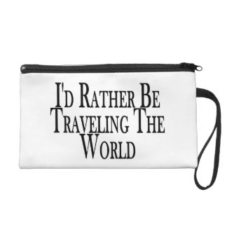 Rather Be Traveling The World Wristlet Purse