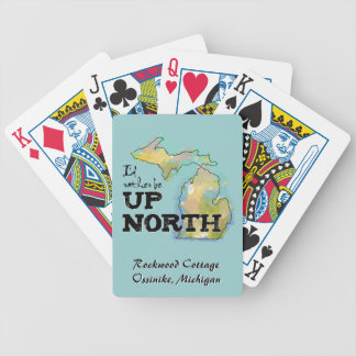 Rather Be Up North Michigan Personalized Cards Bicycle Playing Cards