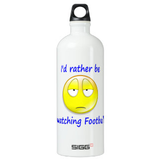 Rather Be Watching Football Aluminum Water Bottle