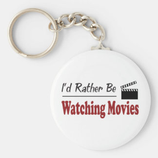 Rather Be Watching Movies Keychain