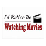 Rather Be Watching Movies Postcards