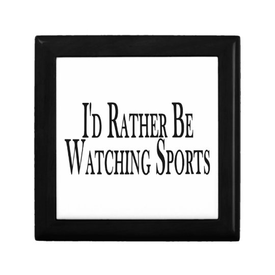 Rather Be Watching Sports Jewelry Box