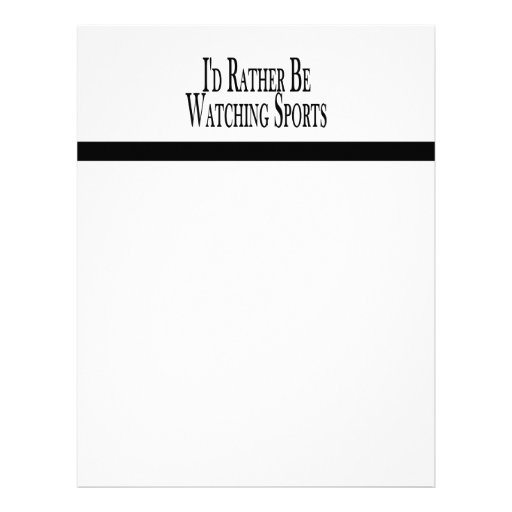 Rather Be Watching Sports Letterhead Template