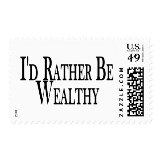 Rather Be Wealthy Postage