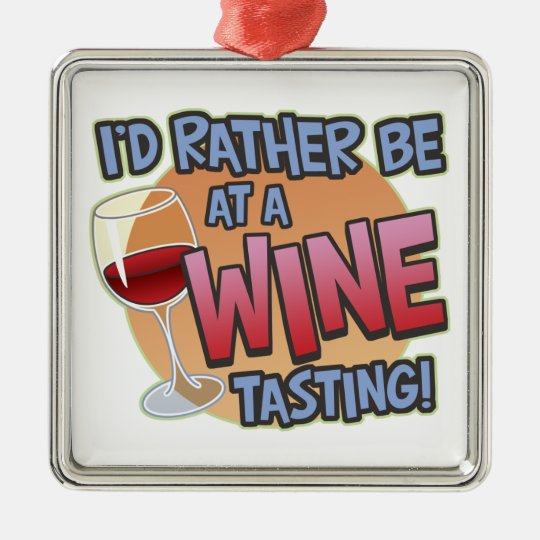 Rather Be Wine Tasting Framed Holiday Ornament