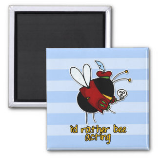 rather bee acting 2 inch square magnet