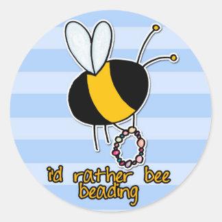 rather bee beading classic round sticker