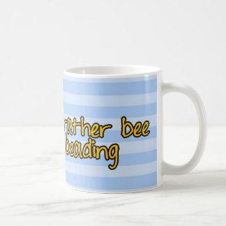 rather bee beading classic white coffee mug