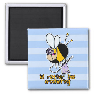 rather bee crocheting 2 inch square magnet