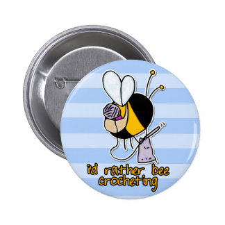 rather bee crocheting button