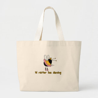 rather bee dancing jumbo tote bag
