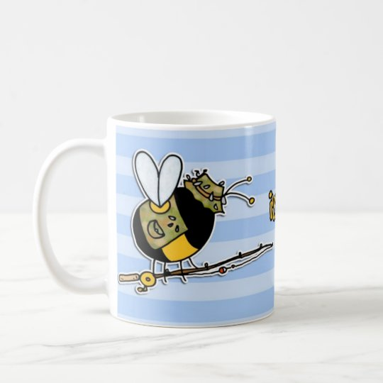 rather bee fishing coffee mug