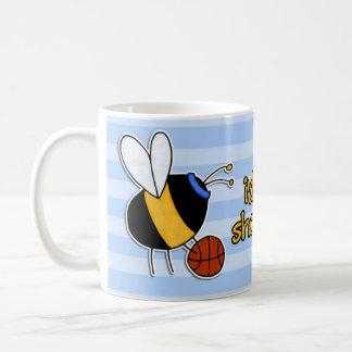 rather bee shooting hoops coffee mug