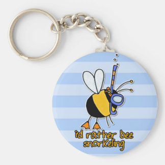 rather bee snorkeling keychains