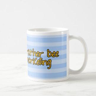 rather bee snorkeling classic white coffee mug