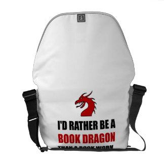 Rather Book Dragon Than Worm Messenger Bag