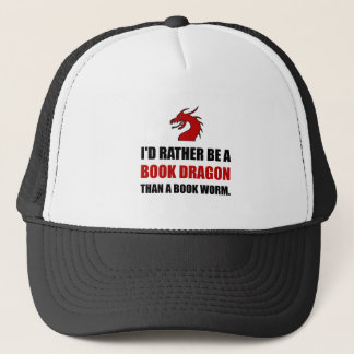 Rather Book Dragon Than Worm Trucker Hat