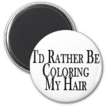 Rather Color My Hair Magnet