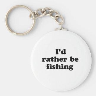 rather fishing basic round button keychain