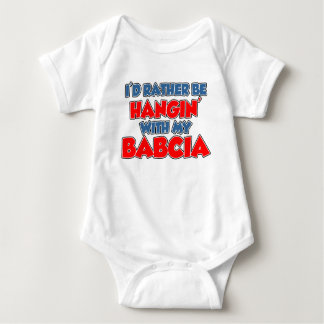 Rather Hang With Babcia Baby Bodysuit