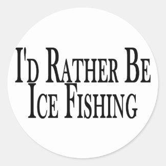 Rather Ice Fish Classic Round Sticker