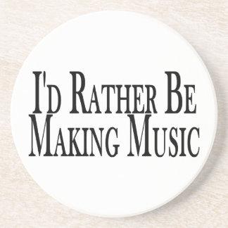 Rather Make Music Drink Coaster