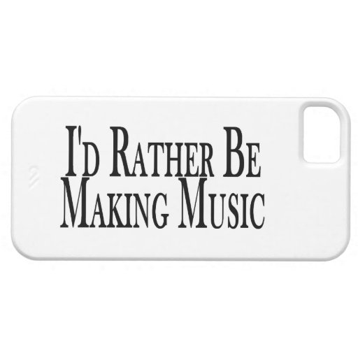 Rather Make Music iPhone 5 Cases