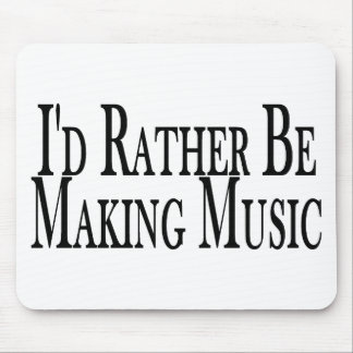 Rather Make Music Mouse Pad