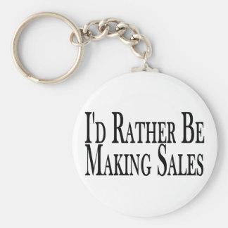 Rather Make Sales Keychain