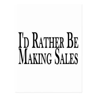 Rather Make Sales Postcard