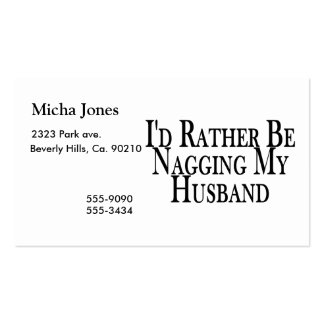 Rather Nag Husband Business Card