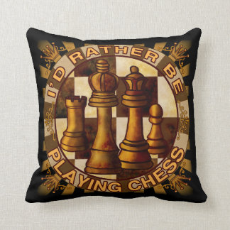 Rather Play Chess Throw Pillow