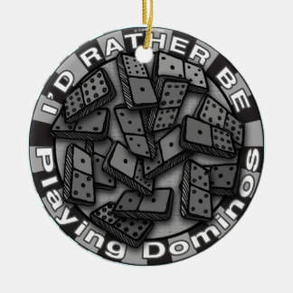 Rather Play Dominoes Christmas Tree Ornament
