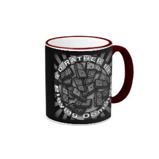 Rather Play Dominoes Ringer Mug