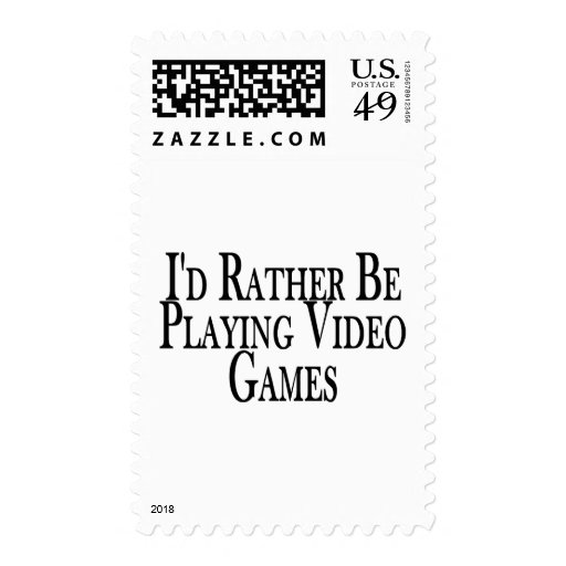 Rather Play Video Games Postage