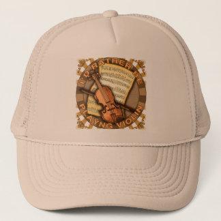 Rather Play Violin Trucker Hat