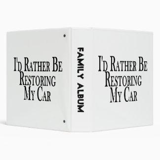 Rather Restore Car Binder
